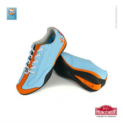 Gulf racing Casual Driving Shoes by Nicolas Hunziker. Hand signed by Derek Bell
