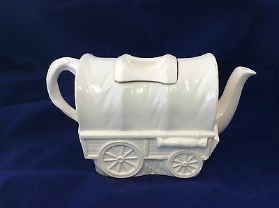 Vintage Covered Wagon Pottery Teapot Registration Mark c1959