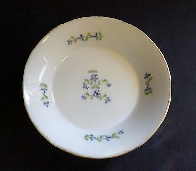 c18th FRENCH PORCELAIN TEA BOWL SAUCER RUE THIROUX LEBOEUF FABRIQUE DE LA REINE