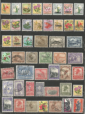 Congo Belgium  nice Collections old used/mint  stamps