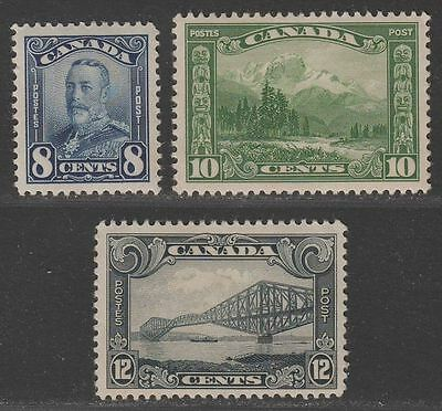Canada 1928-29 King George V Part Set to 12c Mint SG280-282 cat £42 Unmounted M