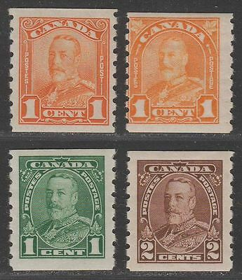Canada 1928-35 King George V Coil Selection Mint cat £40