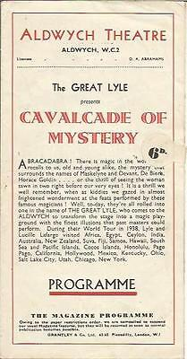 """1941 Magic-Mystery Programme * The Great Lyle * """"cavalcade Of Mystery At Aldwych"""