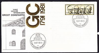 South Africa 1981 Groot Wine Cellar Souvenir Cover - Unaddressed