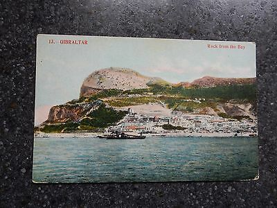 Early Postcard  - Gibraltar Rock - from the bay