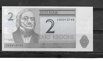 ESTONIA #85a UNC MINT 2006 2 KROONI CURRENCY BANKNOTE BILL NOTE PAPER MONEY