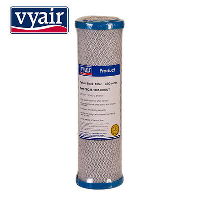 "Vyair 10"" Activated Carbon Block Premium High Capacity Water Filter Cartridges"