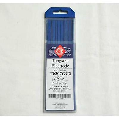 """CK T0207GC2 2% Ceriated Tungsten Electrode .020"""" X 7"""" Pack of 10"""