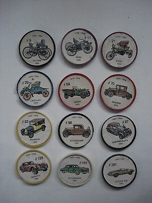 Jell-O Promotion Lot Of 12 Different Plastic Coins Car  Vintage Lot # 27
