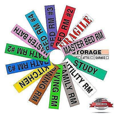 Tag-A-Room Color Coded Home Moving Box Labels, 800 Count 4 Bedroom House Pack