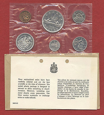 1962 Canada Proof/Proof-like 6 Coin Silver Set Sealed With Original Envelope