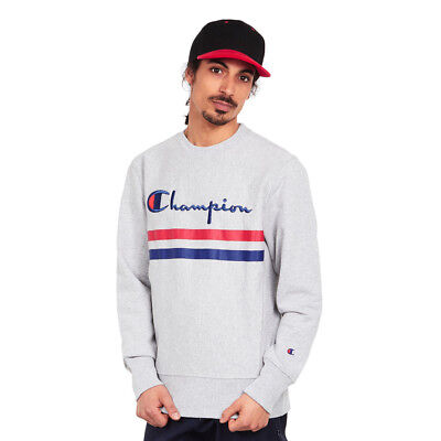 Champion - Crewneck Sweatshirt Light Oxford Grey Melange Pullover Rundhals