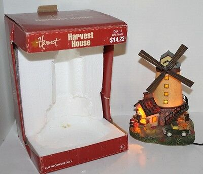 VTG  Harvest House Village Windmill Lighted Animated - Fall - Walmart