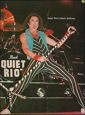 Quiet Riot Kevin DuBrow live onstage vintage 8 x 11 pinup photo print