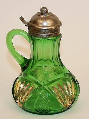Heisey Pineapple & Fan Green Syrup Pitcher