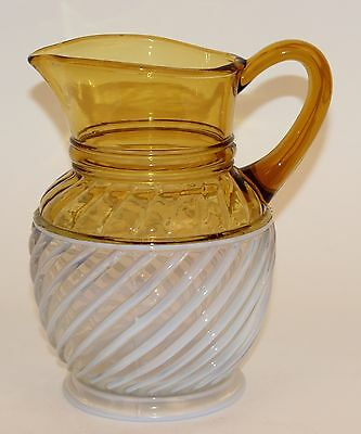 Aetna Gonterman Swirl Amber Opalescent Water Pitcher