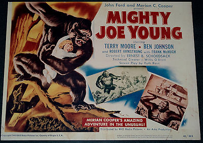 MIGHTY JOE YOUNG 11x14 TITLE CARD MOVIE POSTER! WILLIS O'BRIEN FANTASY CLASSIC!