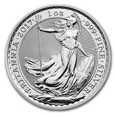 2017 ~ United  Kingdom ~ 1~Ounce ~ .999  Silver ~ Britannia ~ Gem Coin ! ~ $9.99