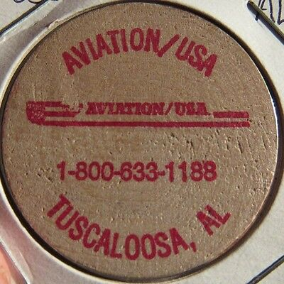 Vintage Aviation USA Tuscaloosa, Alabama Wooden Nickel - Token AL Ala.