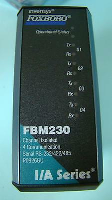 Invensys Foxboro I/A Series P0926GU Module FBM230 Channel Isolated 4 Comm NOS