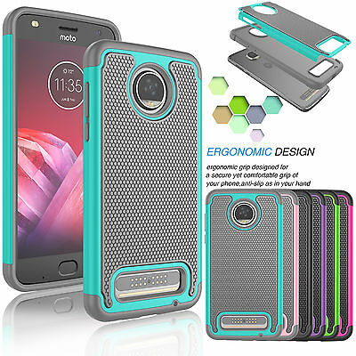 For Motorola Moto Z2 Force / Z2 Force Droid Shockproof Rubber Hard Case Cover