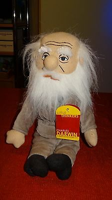 "NEW CHARLES DARWIN LITTLE THINKERS 12"" tall PLUSH EVOLUTION PHILOSOPHER DOLL"