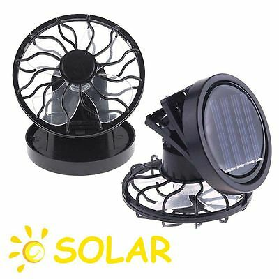 Clip-on Outdoor Cell Mini Travel Fan Cooling Fishing Solar