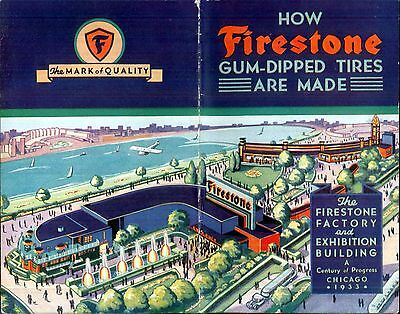 "A Century of Progress Chicago 1933:Booklet,""How Firestone Gum-Dipped Tires Are M"
