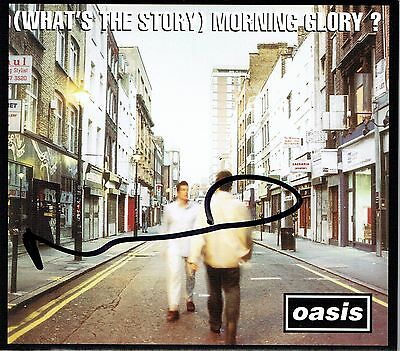 Oasis Noel Gallagher Hand Signed Autographed Whats The Story CD Album Sleeve