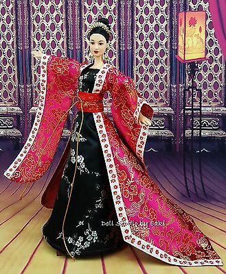 Blue Gown China Japan Chinese Dress Outfit Barbie Silkstone Fashion Royalty Asia