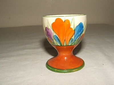 Clarice Cliff Art Deco Bizarre Autumn Crocus Footed Egg-Cup Truly Stunning
