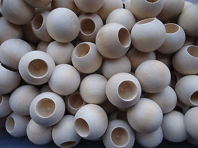 10 x 32mm wooden dowel caps 15mm half drilled, peg doll heads