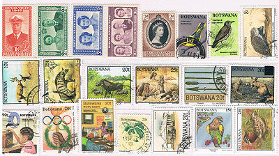 BOTSWANA 1947 - 1997 Collection (21) with Bechuanaland Protectorate