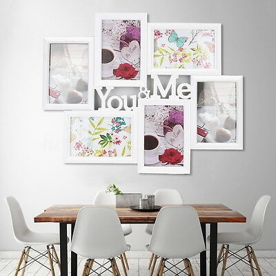 6 Images You&Me Picture Display Wall Decor 6'' Collage Photo Frame Home Decor