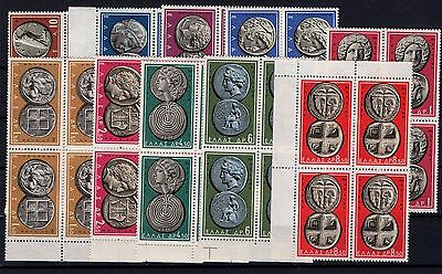 P29273/ Grece / Greece / Coins / Blocks Of 4 / Sg # 799 / 808 Mnh 262 €