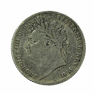 George Iv Silver Sixpence 1821