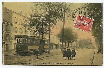 Choisy-le-Roi -  Avenue de Paris et la Station de Tramways. 1910