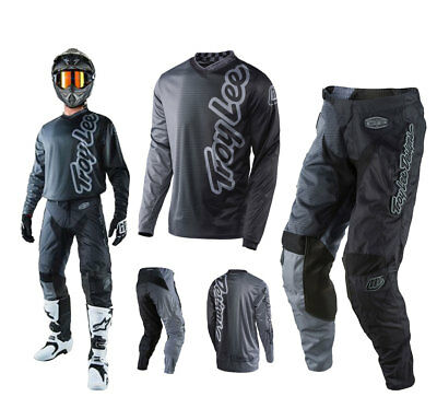 Troy Lee Designs GP 50/50 Combo grau Hose MX Shirt Enduro Motocross Downhill