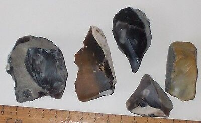 British Neolithic  Flint Scrapers ( And Arrowhead?)
