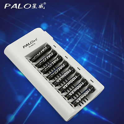 8 slots LED Smart Battery Charger for Rechargeable Ni-MH Ni-Cd AA AAA battery