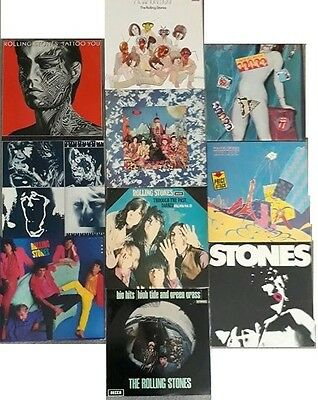 The Rolling Stones Bulk Collection Of 10 Australian Lp Vinyl Records (1966-1986)