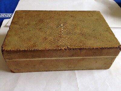Antique Shagreen Box, Bezique Box + Markers, Cribbage Box Whist Marker Old Wood