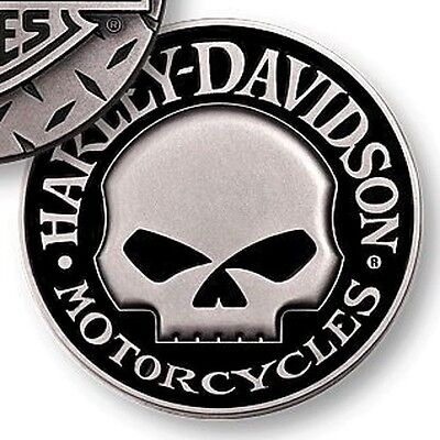 New Harley Davidson Motorcycles Willi G. Skull Diamond Plate Challenge Coin