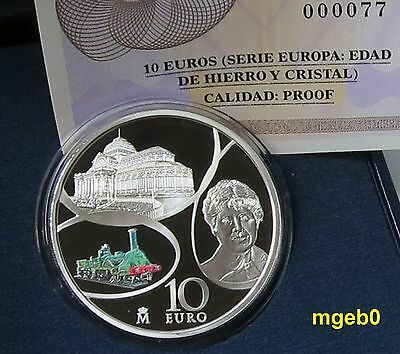 """SPANIEN 2017 - 10 € Silber PP / Proof- Europa Serie """" Age Of Iron And Crystal"""""""