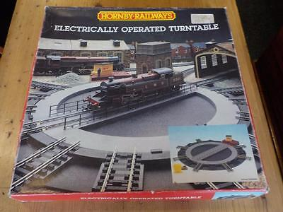 Vintage Hornby Railway Electrically Operated Turntable With Track Connectors