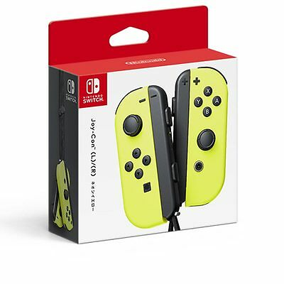 New Nintendo Switch Joy-Con L R Neon Yellow Strap Wireless Controllers Set