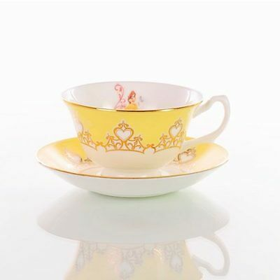 Disney English Ladies porcelaine Cup & Saucer Teaware Belle Beauty and the Beast