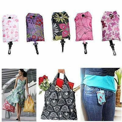 Foldable Handy Shopping Bag Reusable Tote Pouch Recycle Storage Handbags TL