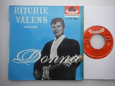 """Ritchie Valens,1941-1959-Donna & In A Little Turkish Town,Very rare French EP,7"""""""