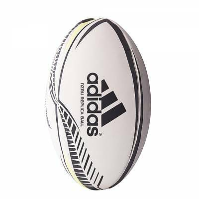 adidas NZRU New Zealand All Blacks Rugby Union Training Ball White - Size 5